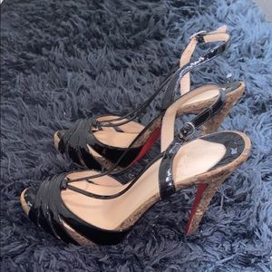 Authentic Christian Louboutin Cork Heels